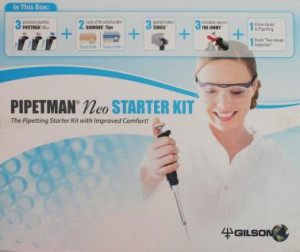 Starter Kit 3 Pipetten mit Pipettenhalter 2 Racks mit Diamond Tips