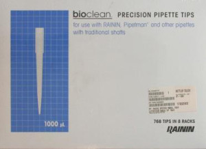 bioclean Precision Pipette Tips 1000 μl in Racks á 96 Tips