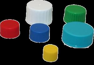 Schraubkappen verschiedene Farben verschiedene Größen